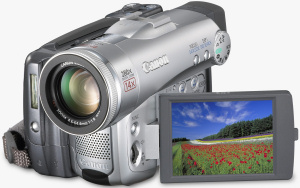 Canon's Optura 60 camcorder. Courtesy of Canon, with modifications by Michael R. Tomkins. Click for a bigger picture!