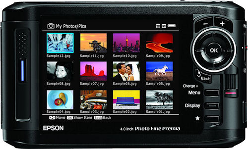 Epson's P-7000 multimedia photo viewer. Photo provided by Epson America Inc. Click for a bigger picture!