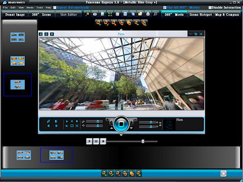 The Movie tab in Panorama Express 3.0. Screenshot provided by Imatronics. Click for a bigger picture!