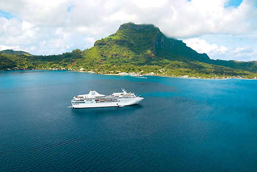 The m/s Paul Gauguin. Photo provided by Paul Gauguin Cruises. Click for a bigger picture!