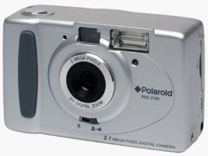The Polaroid PDC 2150 digital camera. Courtesy of Spectra Merchandising International, with modifications by Michael R. Tomkins.