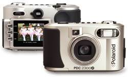 Polaroid's  PDC-2300Z digital camera, front and back views. Courtesy of Polaroid.