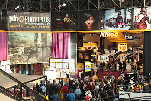 The PDN Photoplus show floor. Photo provided by Nielsen Expositions. Click for a bigger picture!