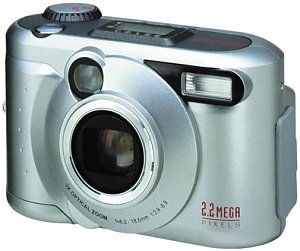 Toshiba's PDR-M25 digital camera. Courtesy of Toshiba, with modifications by Michael R. Tomkins.