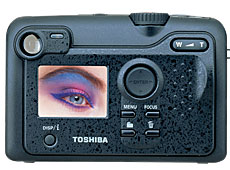 Toshiba's PDR-M71 digital camera. Courtesy of Toshiba Germany.