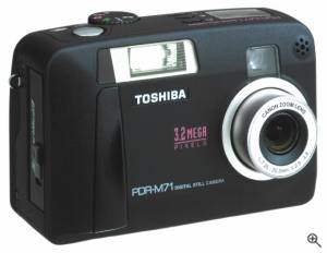 Toshiba's PDR-M71 digital camera. Courtesy of Toshiba. Click for a bigger picture!
