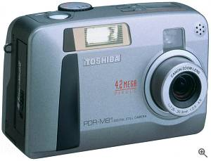 Toshiba's PDR-M81 digital camera. Courtesy of Toshiba - click for a bigger picture!