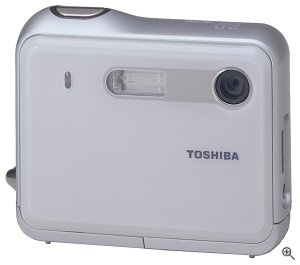 Toshiba's PDR-T10 digital camera. Courtesy of Toshiba America Information Systems Inc., with modifications by Michael R. Tomkins.