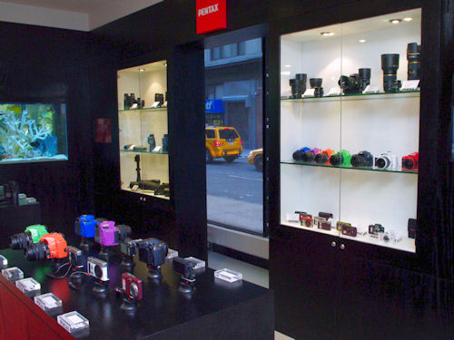 The PENTAX Boutique at Willoughby's Camera's Fifth Avenue location. Photo provided by Pentax Imaging Co. Click for a bigger picture!