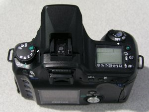 Pentax's *ist D digital SLR. Copyright (c) 2003, The Imaging Resource. All rights reserved.
