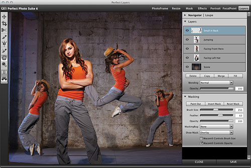 onOne Software's Perfect Layers 2 in use. Screenshot provided by onOne Software Inc. Click for a bigger picture!
