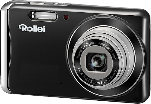 Rollei's Powerflex 450 has a 14-megapixel 1/2.33-inch CCD sensor, 5x optical zoom lens, 2.7-inch LCD panel, and SD / SDHC card storage. Image provided by Rollei. Click for a bigger picture!