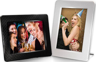 Transcend's PF730 digital photo frame. Photo provided by Transcend Information Inc. Click for a bigger picture!