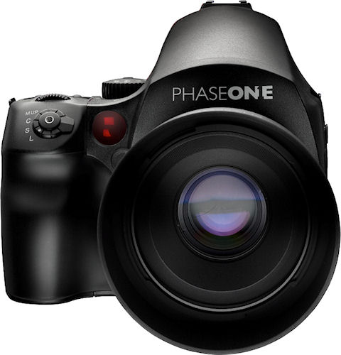 Phase One's 645DF medium format camera with lens attached. Photo provided by Phase One A/S. Click for a bigger picture!