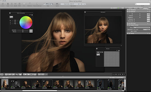 Hasselblad's Phocus 2.0 software. Screenshot provided by Hasselblad USA Inc. Click for a bigger picture!