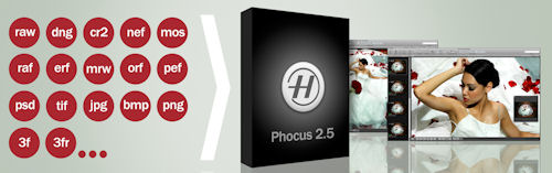 Hasselblad's Phocus 2.5 for Mac accepts a wide variety of image formats, including Raw files from a range of manufacturers. Image provided by Hasselblad USA Inc. Click for a bigger picture!