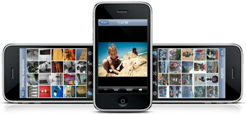 PhotoBox2go software running on Apple's iPhone. Image provided by PhotoBox. Click for a bigger picture!