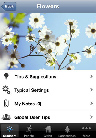 Viewing the Flowers entry in Photocaddy. Screenshot provided by Aspyre Solutions Pty Ltd.