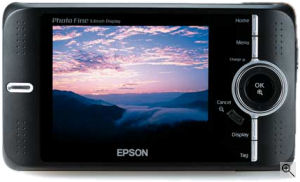 Epson's Photo Fine Player P-4500. Courtesy of Epson, with modifications by Michael R. Tomkins. Click for a bigger picture!