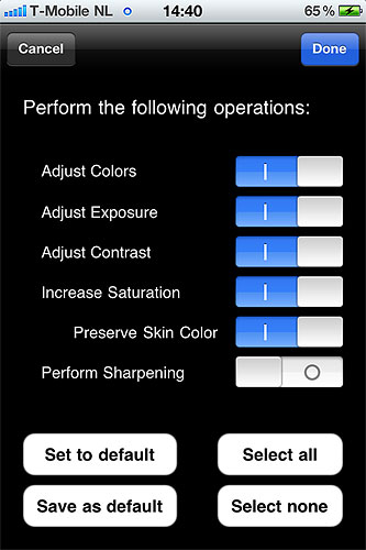 Making adjustements to an image using VeprIT Photo Sense. Screenshot provided by VeprIT. Click for a bigger picture!