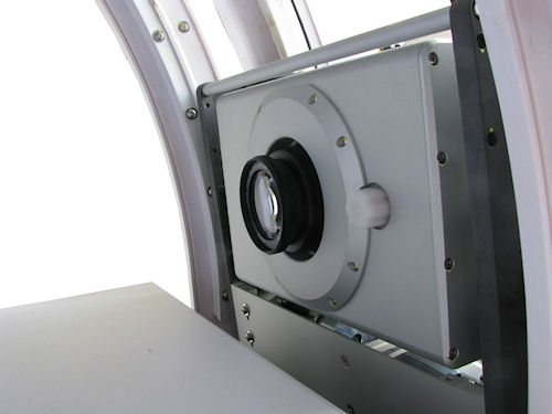 The Photosimile 5000's camera platter seen from inside the light box. Photo provided by Ortery Technologies. Click for a bigger picture!