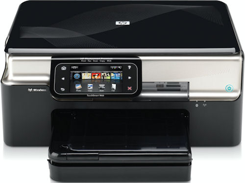 HP's Photosmart Premium printer with TouchSmart Web control panel. Photo provided by Hewlett Packard Co. Click for a bigger picture!