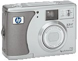 HP's PhotoSmart 735 digital camera. Courtesy of HP, with modifications by Michael R. Tomkins.
