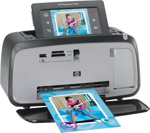 HP's Photosmart A646 printer. Photo provided by Hewlett Packard Co. Click for a bigger picture!