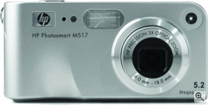 Hewlett Packard's Photosmart M517 digital camera. Courtesy of HP, with modifications by Michael R. Tomkins. Click for a bigger picture!