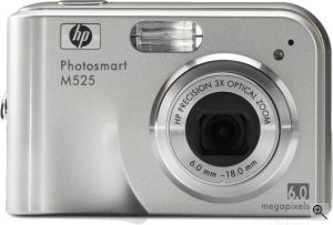 Hewlett Packard's Photosmart M525 digital camera. Courtesy of Panasonic, with modifications by Michael R. Tomkins.
