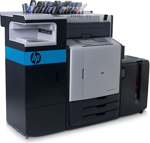 The HP Photosmart ML1000D Minilab printer. Photo provided by Hewlett-Packard Development Company, L.P. Click for a bigger picture!