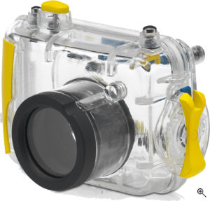 Hewlett Packard's Photosmart Scuba / Underwater Case. Courtesy of Hewlett Packard, with modifications by Michael R. Tomkins. Click for a bigger picture!