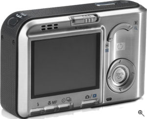 Hewlett Packard's Photosmart R817 digital camera. Courtesy of Hewlett Packard, with modifications by Michael R. Tomkins. Click for a bigger picture!