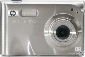 Hewlett Packard's Photosmart R927 digital camera. Courtesy of Panasonic, with modifications by Michael R. Tomkins.