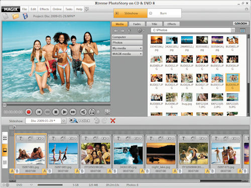 MAGIX Xtreme PhotoStory on CD & DVD 8. Screenshot provided by MAGIX AG. Click for a bigger picture!