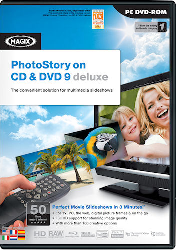 MAGIX Xtreme PhotoStory on CD & DVD 9 product packaging. Image provided by MAGIX AG. Click for a bigger picture!