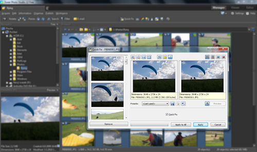 Batch processing in Zoner Software's Photo Studio Free. Screenshot provided by Zoner Software A.S. Click for a bigger picture!