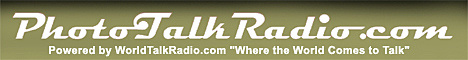 Photo Talk Radio's logo. Click here to listen to Dave Etchells' appearance on the show!
