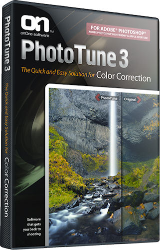 PhotoTune 3 product packaging. Photo provided by onOne Software. Inc. Click for a bigger picture!