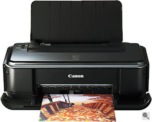 Canon's Pixma iP2600 printer. Courtesy of Canon, with modifications by Michael R. Tomkins. Click for a bigger picture!