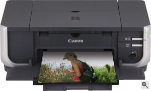 Canon's PIXMA iP4300 printer. Courtesy of Canon, with modifications by Michael R. Tomkins. Click for a bigger picture!