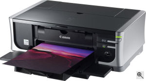 Canon's PIXMA iP4500 photo printer. Courtesy of Canon, with modifications by Michael R. Tomkins. Click for a bigger picture!