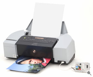Canon's PIXMA iP6210 printer. Courtesy of Canon, with modifications by Michael R. Tomkins. Click for a bigger picture!