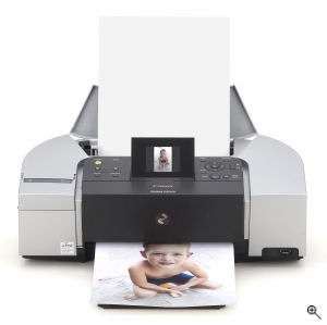 Canon's PIXMA iP6220 printer. Courtesy of Canon, with modifications by Michael R. Tomkins. Click for a bigger picture!