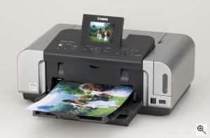 Canon's PIXMA iP6600 printer. Courtesy of Canon, with modifications by Michael R. Tomkins. Click for a bigger picture!