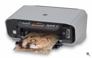 Canon's PIXMA MP170 printer. Courtesy of Canon, with modifications by Michael R. Tomkins. Click for a bigger picture!