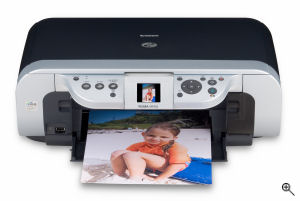 Canon's PIXMA MP450 printer. Courtesy of Canon, with modifications by Michael R. Tomkins. Click for a bigger picture!