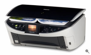 Canon's PIXMA MP500 printer. Courtesy of Canon, with modifications by Michael R. Tomkins. Click for a bigger picture!