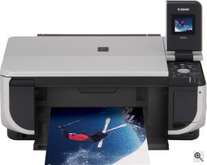 Canon's PIXMA MP510 printer. Courtesy of Canon, with modifications by Michael R. Tomkins. Click for a bigger picture!