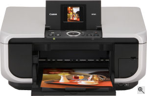 Canon's PIXMA MP600 printer. Courtesy of Canon, with modifications by Michael R. Tomkins. Click for a bigger picture!